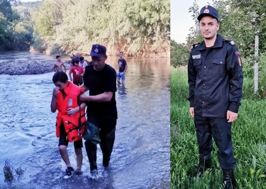 Salvatorii nu au timp liber. El este pompierul din Buteni care a salvat, ieri, un minor de la înec